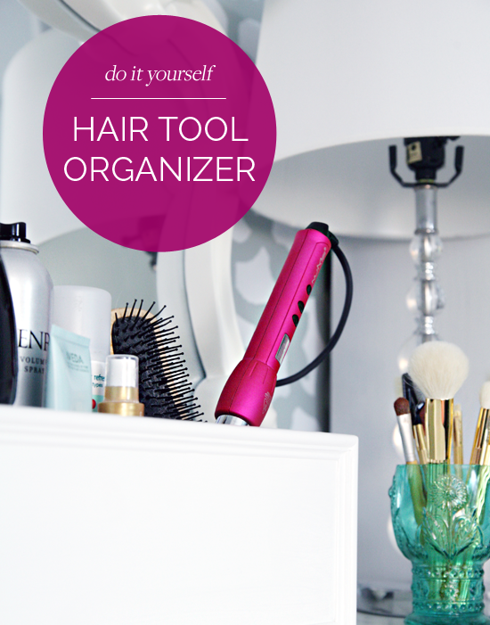 Diy Hair Tool Organizer We Recently Made A Sweet And Simple Gift For Fellow Friend It Was So Easy I Thought Would Share Today