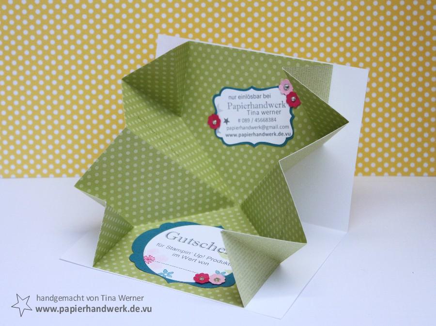 Papierhandwerk Gutschein Für Stampin Up Produkte