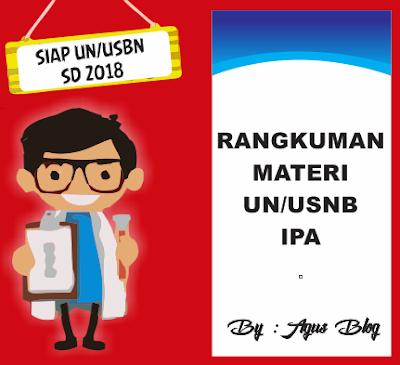 DOWNLOAD RANGKUMAN MATERI UN/USBN  IPA SD TAHUN 2018 LENGKAP