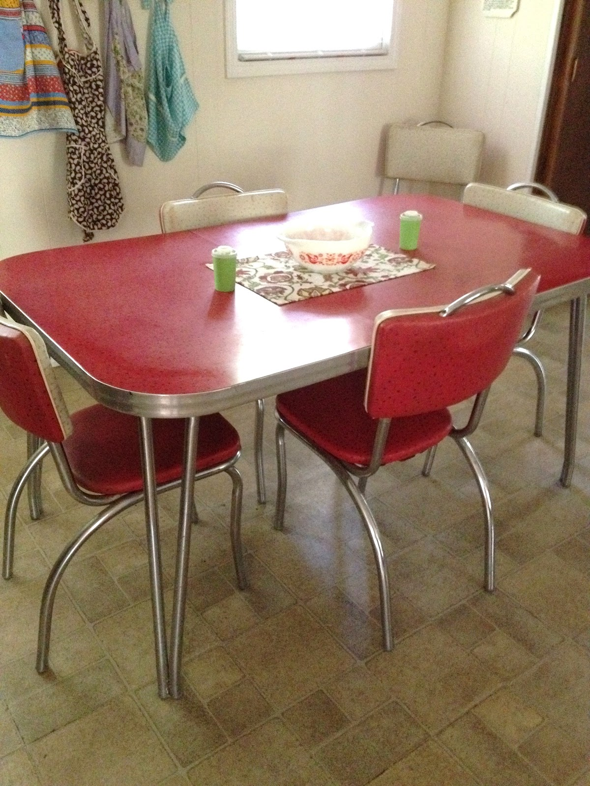red kitchen table set period cabinets carrie 39s little world