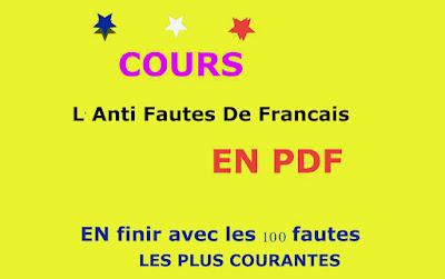 COURS : L'Anti Fautes De Français
