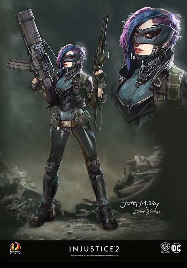 injustice 2 unused concept art bluebird