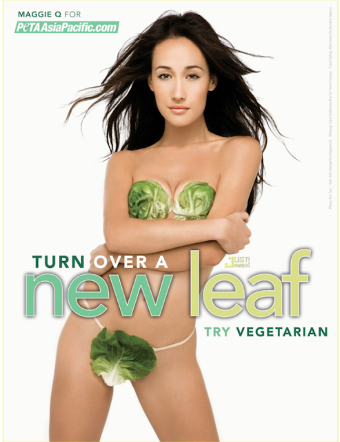 Maggie Q goes nude for PETA