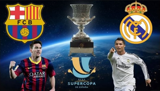 تردد قنوات أبوظبي الرياضية 1 و 2 الناقلة لمباراة كلاسيكو كأس السوبر الإسباني