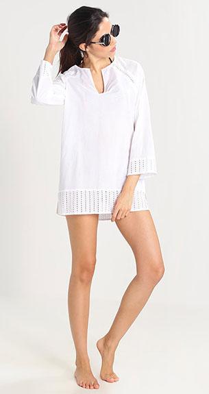 moda playa blanco Zalando
