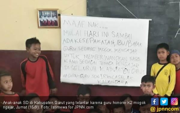 Hari Ini Belasan Ribu Guru Honorer K2 Mogok Mengajar