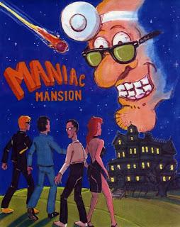 Boceto de portada Maniac Mansion