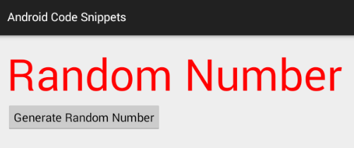 android java - How to generate a random number
