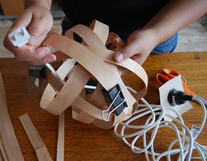 DIY Lampu Rumah Dari Anyaman Kayu - Step 8