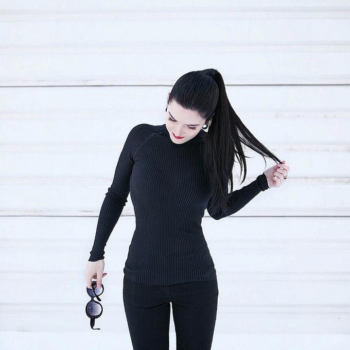 jedwabna bluzka l minimalizm l moda l look l styl l stylizacja