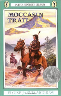 https://www.amazon.com/Moccasin-Trail-Puffin-Newberry-Library/dp/0140321705/ref=sr_1_1?ie=UTF8&qid=1475634927&sr=8-1&keywords=moccasin+trail