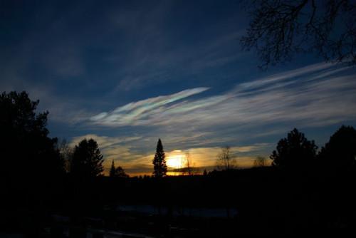 Полярные стратосферные облака появились вокруг Северного полярного круга