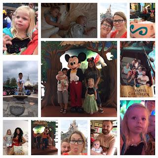 collage van foto's van onze gezinsvakantie in Disneyland