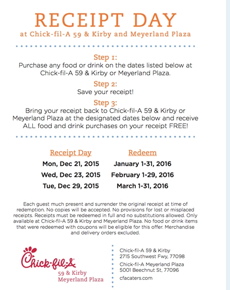 picture regarding Chickfila Printable Coupon titled Chick fil a receipt code - Bob evans military services lower price