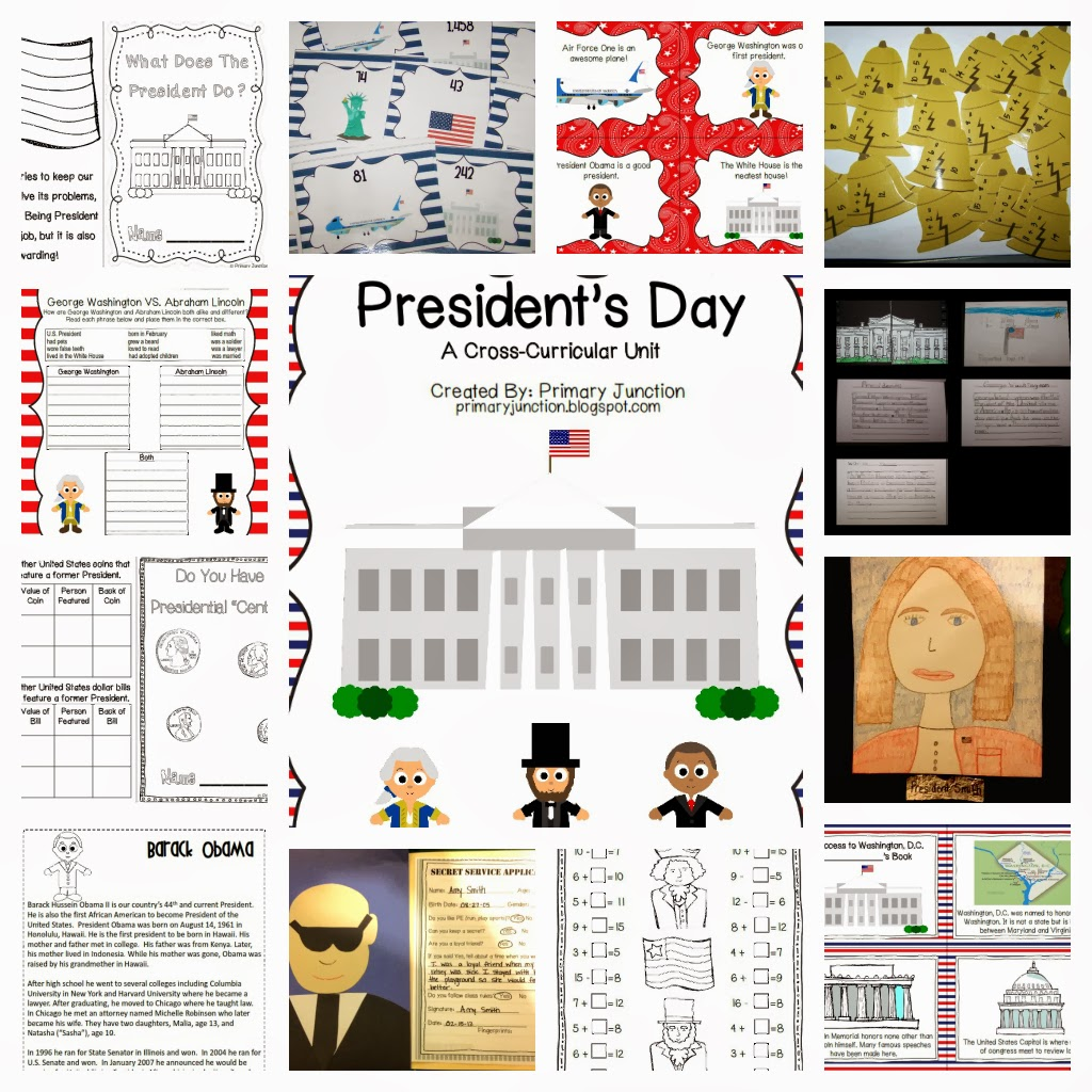 http://www.teacherspayteachers.com/Product/Presidents-Day-Unit-195626