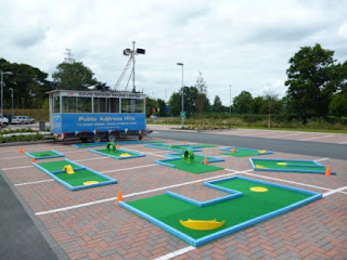 A Putterfingers layout at the Oswestry Games in Shropshire
