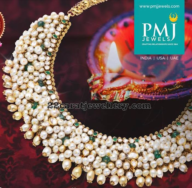 Pretty Pearl Necklace by PMJ Jewels