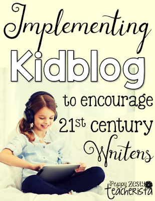Kidblog tutorial for writer's workshop