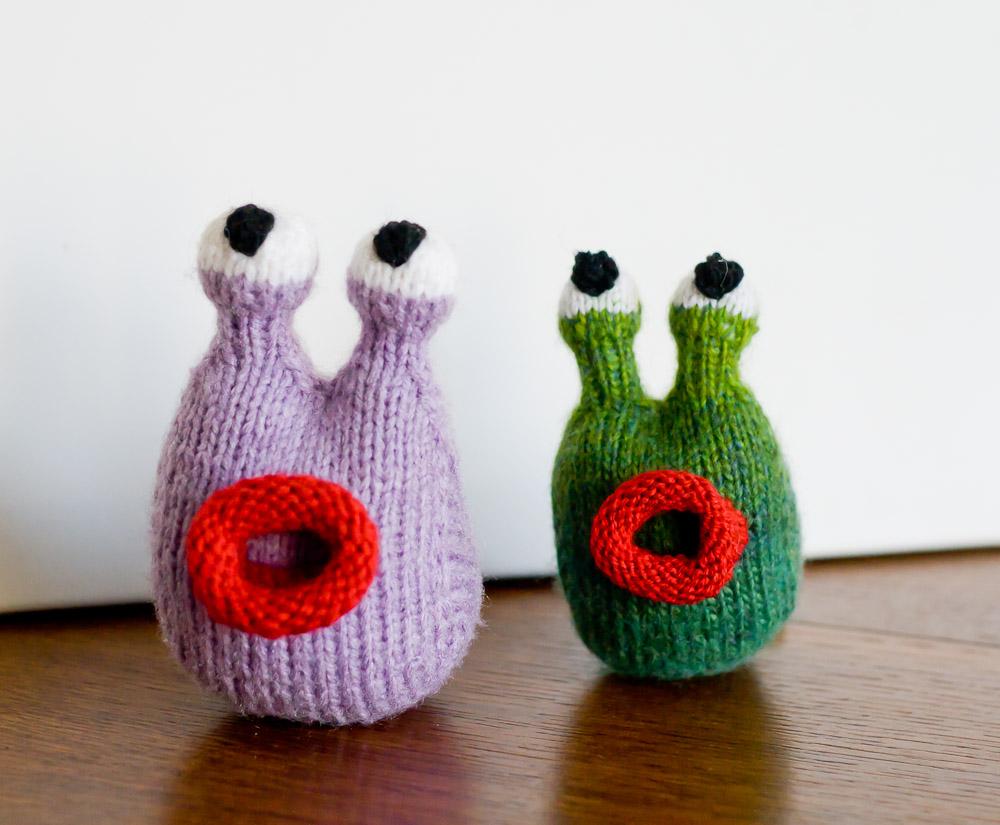 ślimaki na drutach