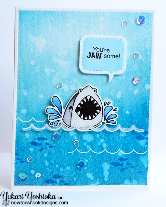 Shark Week: You're JAW-some! by Handmade by Yuki | Shark Bites by Newton's Nooks Designs