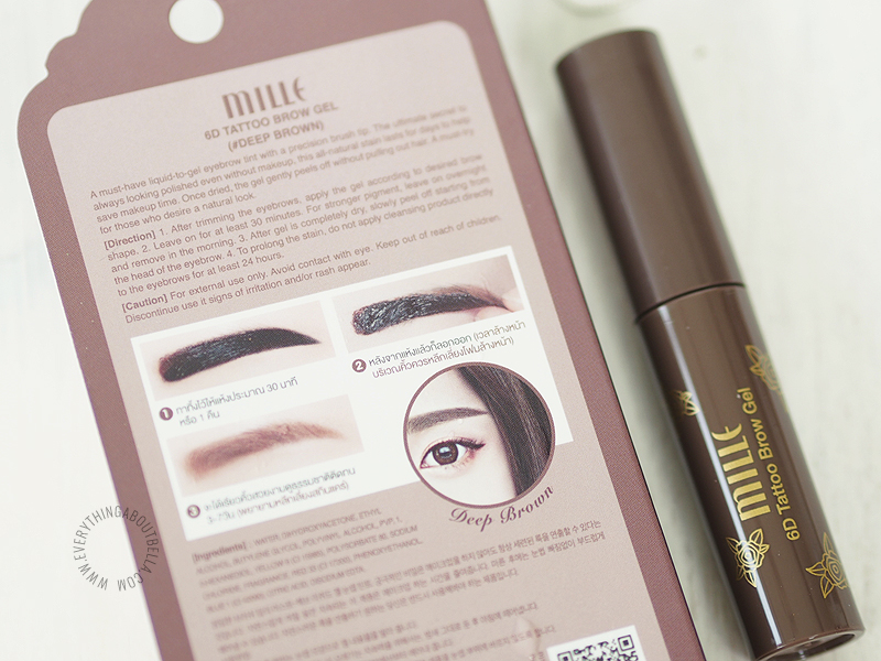 beauty blogger indonesia - review mille beaute tattoo brow