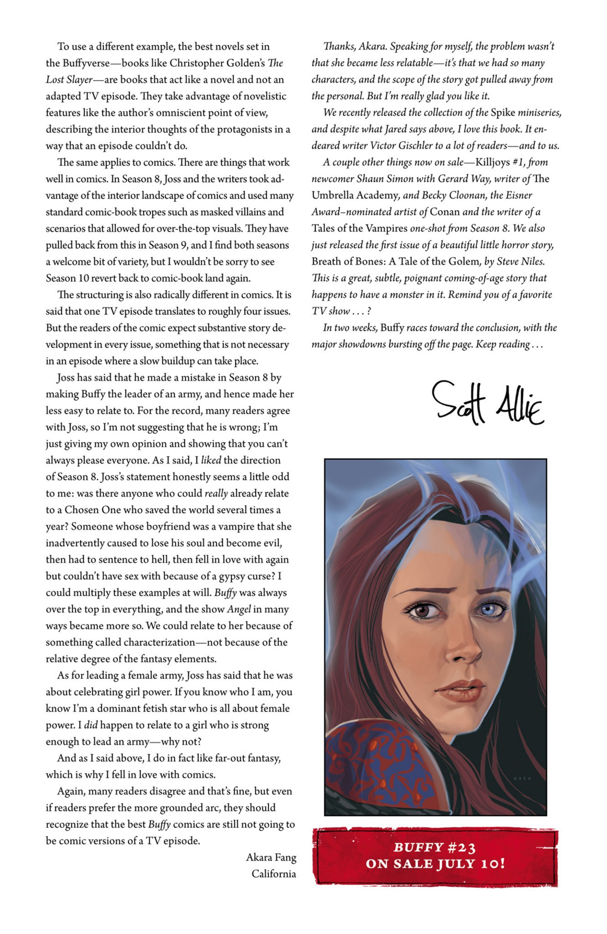 Read online Angel and Faith comic -  Issue #23 - 28
