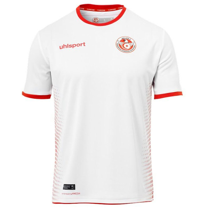 f3c3344f3 Tunisia 2018 World Cup Home and Away Kits Released - Footy ...