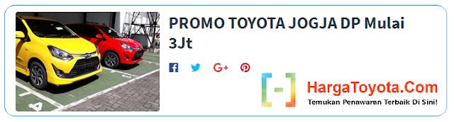 Promo Toyota DP 3 juta
