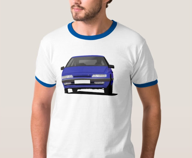 Citroen XM t-shirts in blue