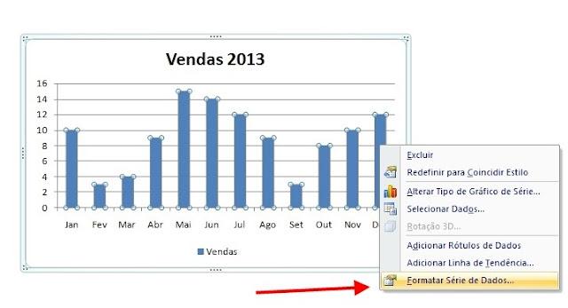 Gráficos Excel - Formatar Série