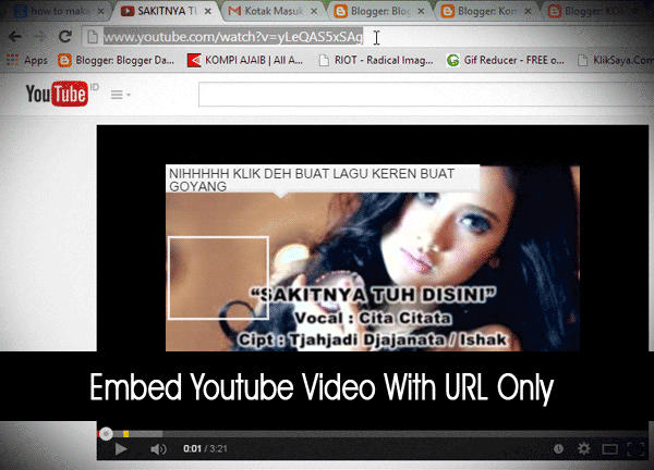 Embed Youtube Video URL Only
