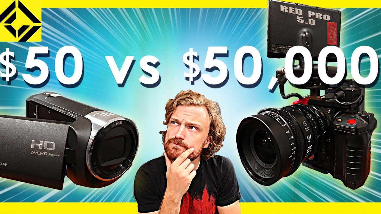 $50 Camcorder Vs $50,000 Cinema Camera