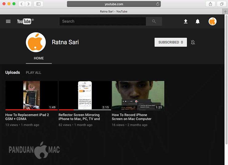 Cara Mengaktifkan Fitur YouTube Dark Mode di Safari Mac