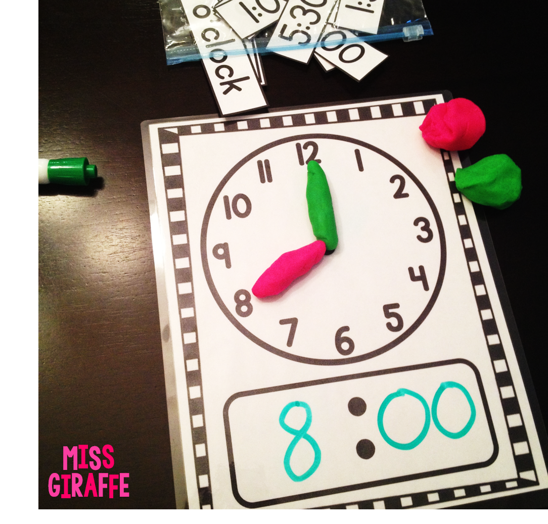 Miss Giraffe's Class: Telling Time in First Grade [ 1037 x 1084 Pixel ]