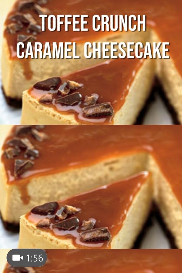 Toffee Crunch Caramel Cheesecake