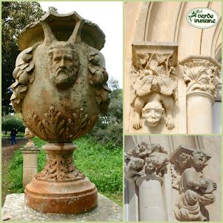 Donnafugata il parco del castello del barone burlone - Decorazioni grottesche ...