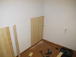 Bricomonxo cabecero de madera para dormitorio - Poner rodapie ...