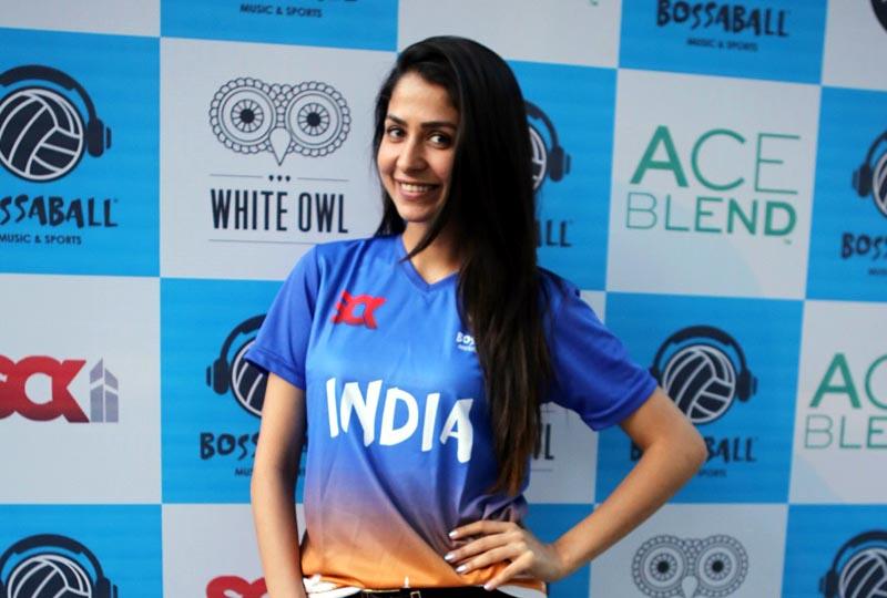 Malvika Raaj at the launch of Bossaball in Mumbai