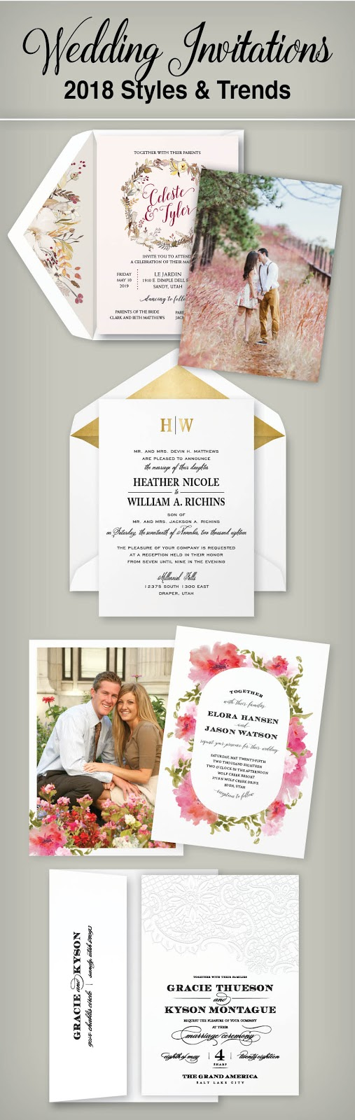 Wedding Invitation Blog 2018 Wedding Invitation Trends