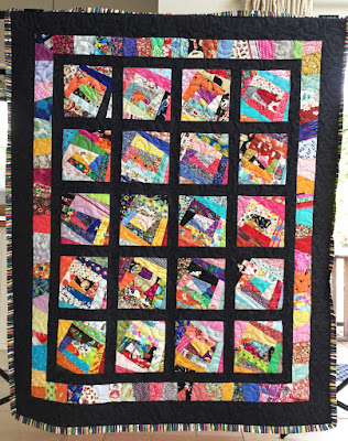 'Foundation by the Yard' scrap quilt by Penny