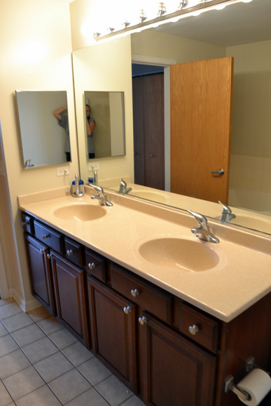 Master Bathroom with two sinks.