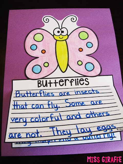 Super cute butterfly writing craft activity that is no prep and perfect for young kids learning about butterflies and their life cycle