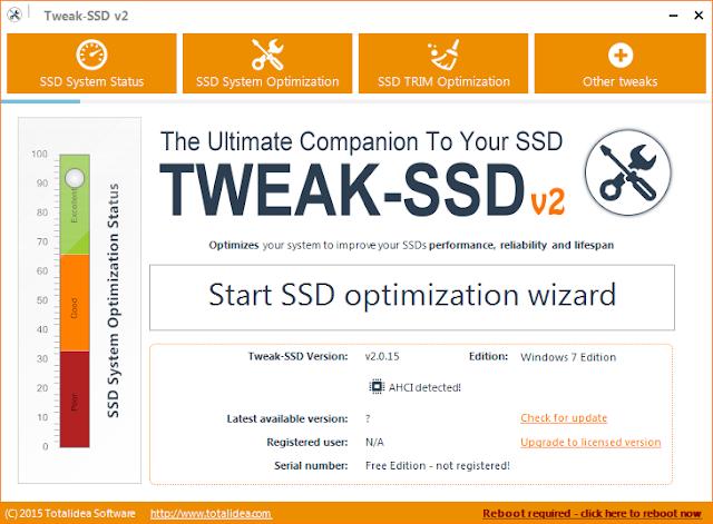 Tweak-SSD 2.0.30 | Optimiza Windows para un mejor rendimiento con unidades SSD