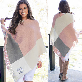poncho, fall, winter, monogram, personalized poncho, marleylilly, monogrammed poncho