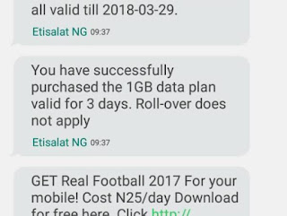 successfully activate 9mobile N200 for 1GB