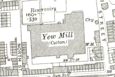 Yew Mill, OS map, 1929.