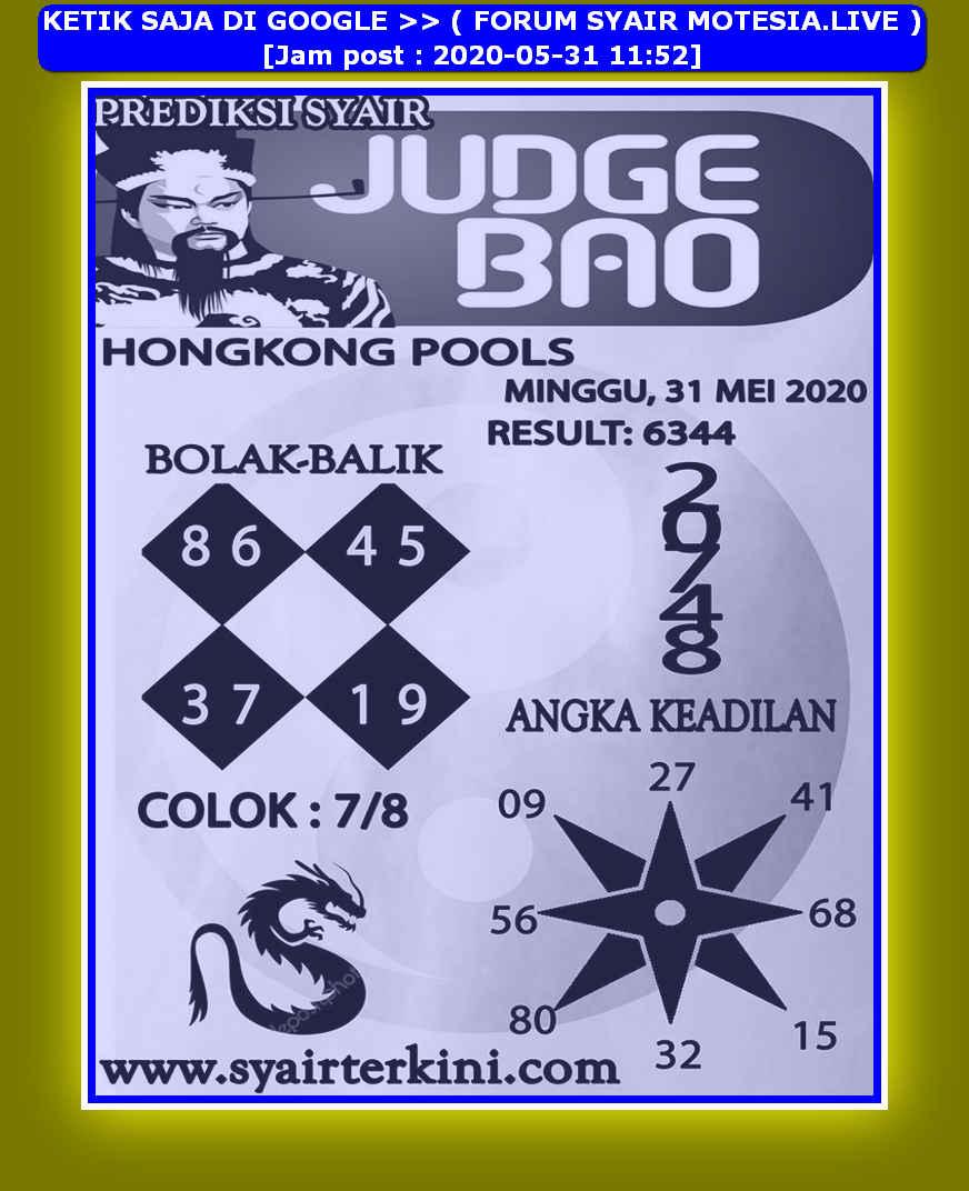 Kode syair Hongkong Minggu 31 Mei 2020 130
