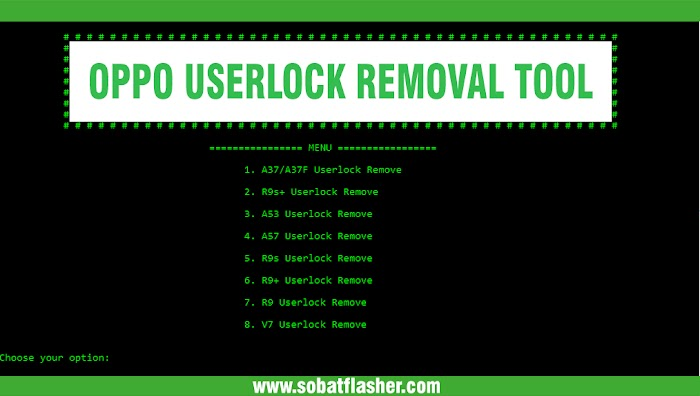 OPPO Userlock Removal Tool - Solutions For Remove Userlock