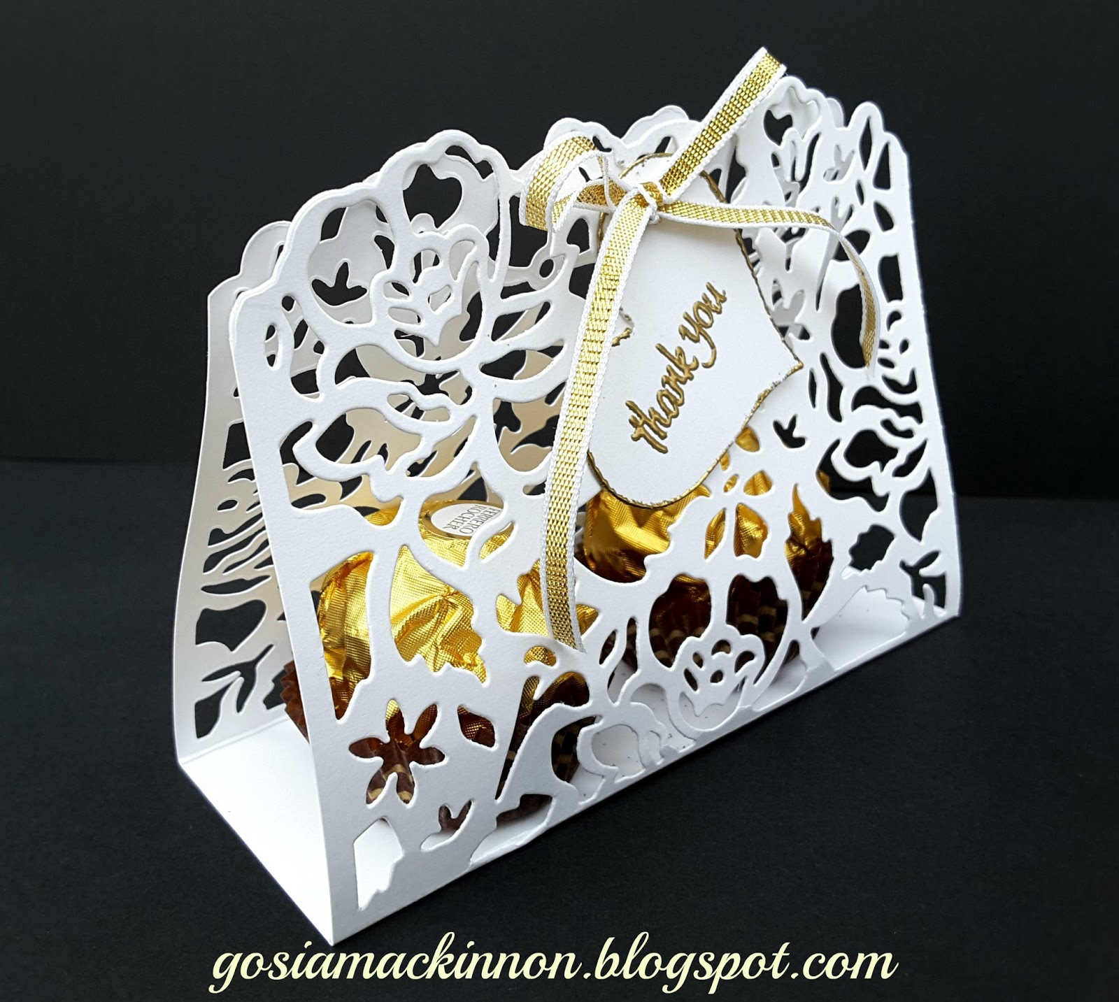 Wedding Thankyou Gifts: DETAILED FLORAL THINLITS WEDDING GUEST THANK YOU GIFT BOX
