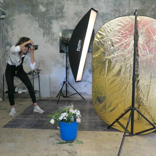 נטלי זריקר מצלמת בארוע השתפ של erdem ו h&m
